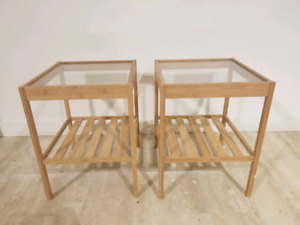 2 SMALL IKEA SIDE TABLES