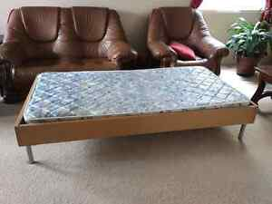 Single bed frame and mattress - Sold pending for pickup Cambridge Kitchener Area image 2