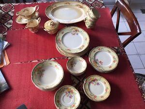 Antique dinnerware set