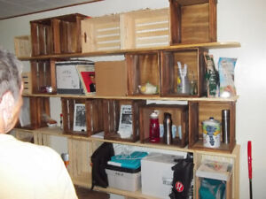 Do it your self shelf  with wooden crates $ 180.00