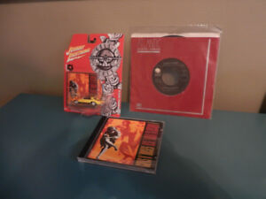 Guns N Roses Record, CD and Diecast Lot of 3