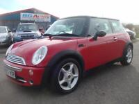 03 MINI COOPER 1.6 CHILLI RED/BLACK ROOF PX CARDS