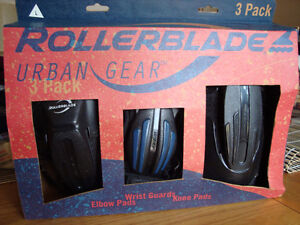 Brand new Rollerblade 3 pack of Wrist guards,Elbow and Knee Pads
