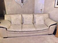 3 & 2 piece cream leather suite