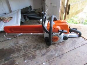 STIHL MS 170 Chainsaw 6 months old 2yr warrenty.