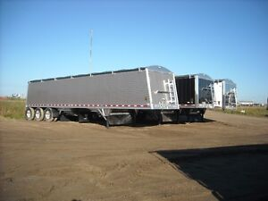 New Wilson all aluminum grain trailers