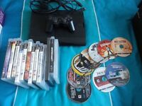 500 gb PS3 with loads of games