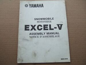 1979 YAMAHA EXCEL-V SNOWMOBILE ASSEMBLY MANUAL