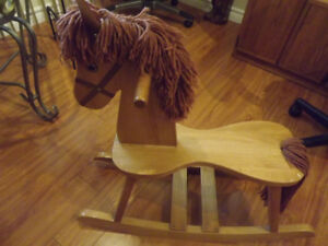 Oak child's rocking horse