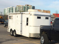 7x18 Toy Hauler with AC, Awning and Bunks