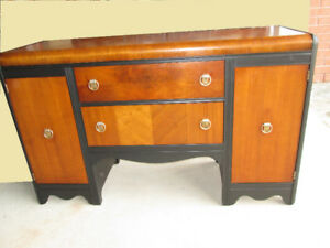 FREE DELIVERY! KRUG BROS. LTD Antique WALNUT Waterfall Sideboard
