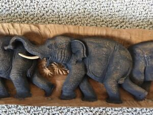 Elephant Wooden Carving - one of a kind!!