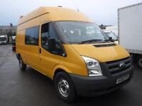 FORD TRANSIT 350 H-R 9 SEAT CREW VAN, Yellow, Manual, Diesel, 2010