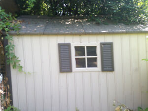 Shed  for tools, tractors, chickens