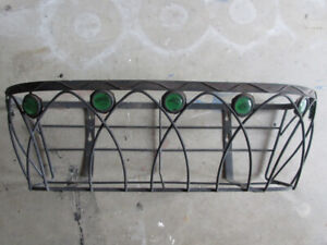 outdoor planter for balcony or fence or wall 24x7 in