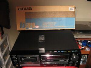 AIWA AD-F810 3 HEAD CASSETTE DECK & REMOTE & BOX