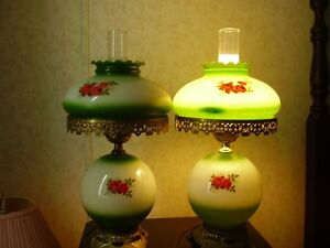 "Two ""Gone with the Wind"" lamps"