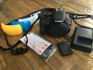 Canon 100D / SL1 18MP Digital SLR DSLR with accessories