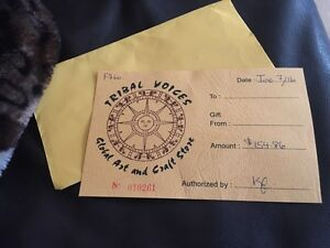Tribal voices gift certificate