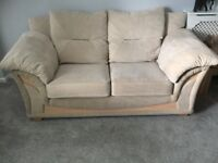 Two 2 Seater Fabric Sofas £60 each ono