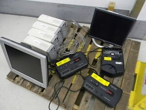 UPS, Monitors, DX-CD2 secure CD destruction device (sold as lot)
