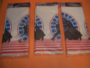 (3) STAR WARS RETURN OF THE JEDI PAPER TABLECOVERS SEALED (1983) London Ontario image 2