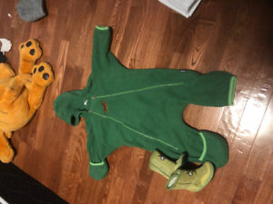 MEC Fleece Toaster Suit and Suede Pedoodle Boots