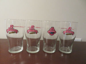 SET of 4 RICKARD'S RED Beer Glasses