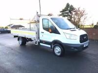 2015 64 FORD TRANSIT 125 350 L4 4.1 METER ALLOY DROPSIDE W TAIL LIFT