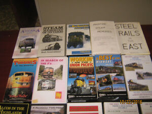 16 Railroad VHS Tapes, many on Atlantic Canada