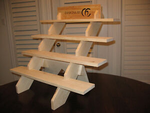 Portable 4 or 5 or 2 Shelf Craft Display Stand