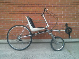 Recumbent bike, used in commercials and films. One of a Kind.