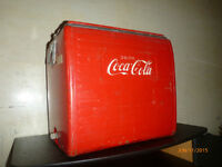 1958 Coca Cola picnic cooler with sandwich tray, free delivery