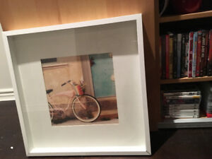 bicycle framed print 21x21 inches