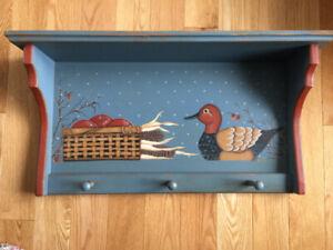 Paterre murale, tablette décorative vintage