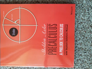 New Precalculus 3rd edition for sale.