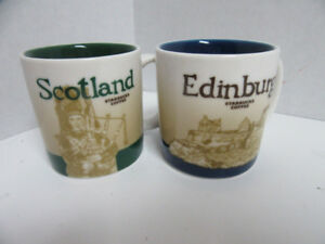 Starbucks Demitasse Edinburgh/scotland Mini Espresso Mugs