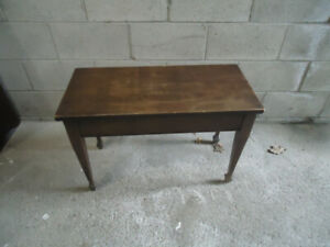 WOODEN PIANO SEAT 30 X 14 X 20 INCHES TALL