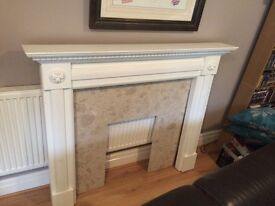 Marble hearth fire surround
