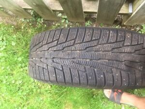 Hercules avalanche rg2 snow tires on 5x114 steels rims London Ontario image 3