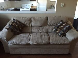 Micro suede sofa couch like NEW!