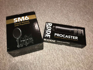 Rode Procaster Condenser Microphone and Shock Mount