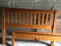 Double bed frame - Pine colour