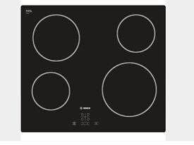 Bosch PKE611D17E electric ceramic hob 4 Zone Quick-Therm Hob - Black