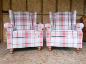 Pair of next sherlock recliner arm chair