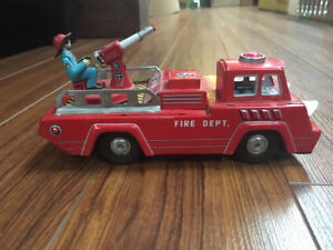 Vintage Tin Fire Truck Made in Japan