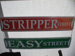 New STRIPPER STREET Novelty Metal Street Sign London Ontario image 3