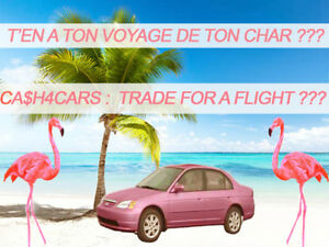 SCRAP | FREE TOWING | GAGNE UN VOYAGE * | SELL CAR WIN A TRIP *