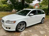 2010 Volvo V50 D R-DESIGN SE 6SPEED ESTATE 1OWNER SINCE 2013 STUNNING IN RARE WH