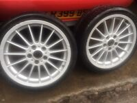 "Bmw 18"" staggered alloy wheels, vivaro traffic vw t5"
